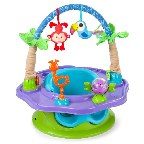 Buy Summer Infant 3-Stage SuperSeat Deluxe Giggles Island: Positioner, Activity Seat, and Booster, Neutral