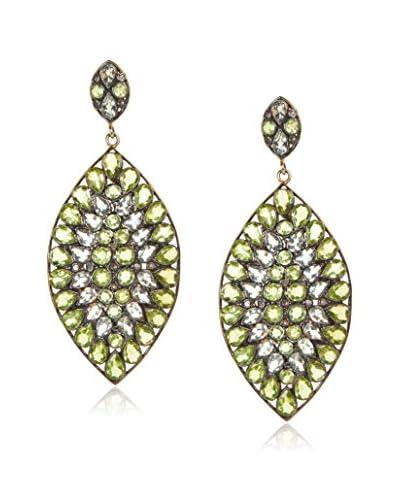 Samira 13 Peridot and White Topaz Marquis Drop Earrings