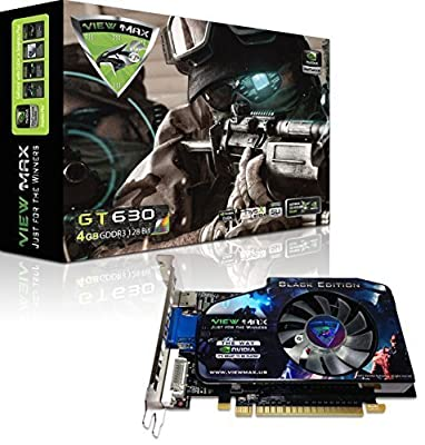 ViewMax NVIDIA GeForce GT 630 4GB BLACK EDITION GDDR3 128-Bit PCI Express (PCIe) DVI Video Card HDMI & HDCP Support