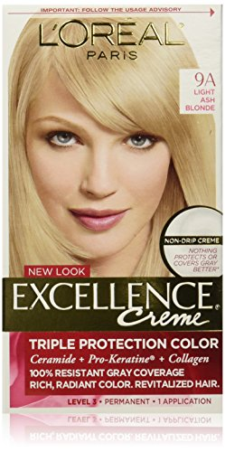 L'Oreal Paris Excellence Creme with Pro-Keratine Complex, Light Ash Blonde 9A