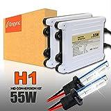 Engync AC 55w H1 8000K HID交換用キット 極輝型バルブ プレミアム薄型バラスト プロ推奨Hi/Low対応 高速点灯 3年保証