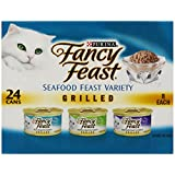Fancy Feast Wet Cat Food, Grilled, Seafood Feast Variety Pack, 3-Ounce Can, Pack of 24 ~ Purina Fancy Feast