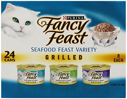 Fancy Feast Wet Cat Food, Grilled, Seafood Feast