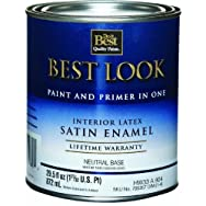 - HW33A0804-14 Best Look Interior Latex Satin Paint And Primer In One Wall And Trim Enamel
