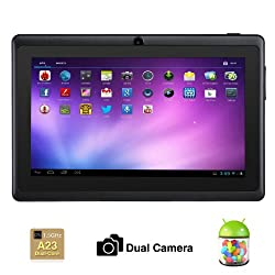 Alldaymall® 7 Inch Android 4.2 Tablet PC MID with Capacitive Touchscreen (Dual Core CPU, 1.5GHz, Wi-Fi, Dual Camera) Black