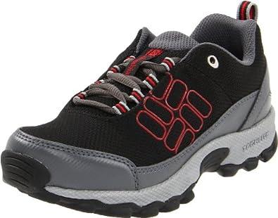 (暴跌)哥伦比亚Columbia Lonero Lonerock Lace-Up Hiking减震户外童鞋灰蓝$27.48