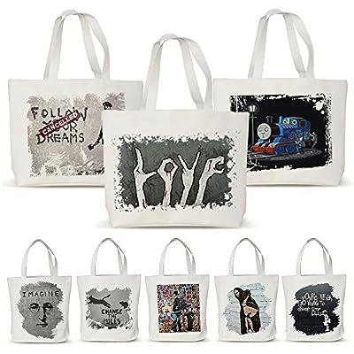 Embiofuels(TM) Canvas Eco Shopping Bags Friendly Reusable Grocery Shopper Tote Handbags Women Shoulder Bag Banksy graffiti D30