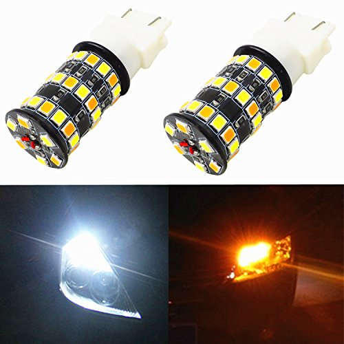 Alla Lighting Newest Version 3035 48-SMD Xtremely Super Bright Dual Color White Yellow 3157 T25 LED Switchback Bulbs for Replacing Front Turn Signal Light (2000 Tahoe Front Lights compare prices)