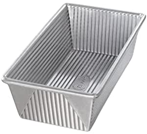 USA Pans 9 x 5 x 2.75 Inch Loaf Pan, Aluminized Steel with Americoat