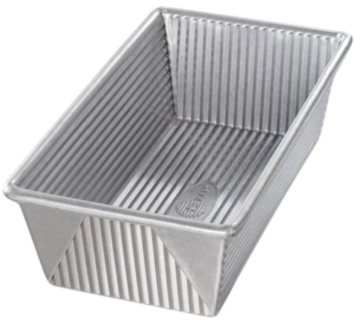USA Pans 9 x 5 x 2.75-Inch Loaf Pan, Aluminized Steel with Americoat