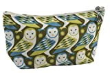 Dana Herbert Lily Small Lined Cotton Cosmetic Bag Owl Print