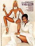 Lil Kim' Mary J Blige original clipping magazine photo 1pg 8x10 #R0060