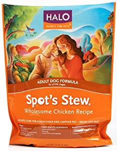 Halo Spot's Stew Natural Dry Dog Food, Adult Dog, Wholesome Chicken Recipe, 4-Pound Bag from Halo, Purely for Pets
