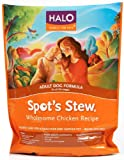 51oi420iJSL. SL160  Halo Spots Stew Natural Dry Dog Food, Adult Dog, Wholesome Chicken Recipe, 4 Pound Bag