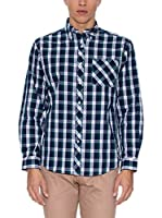 THE INDIAN FACE Camisa Hombre (Azul Marino / Verde)
