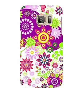 Floral Pattern 3D Hard Polycarbonate Designer Back Case Cover for Samsung Galaxy S7 Edge :: Samsung Galaxy S7 Edge Duos G935F