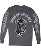 SONS OF ANARCHY CHARCOAL MENS LONG SLEEVES TEE