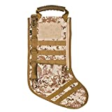 Tactical Christmas Stocking with Molle Gear in Digital Camo