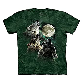 The Mountain Three Wolf Moon Adult Balsam T-shirt S