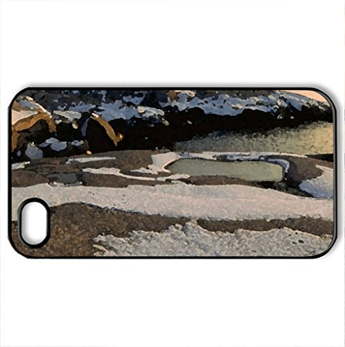 Nova Scotia Lighthouse St. Margarets Bay - Case Cover For Iphone 4 And 4S (Lighthouses Series, Watercolor Style, Black)