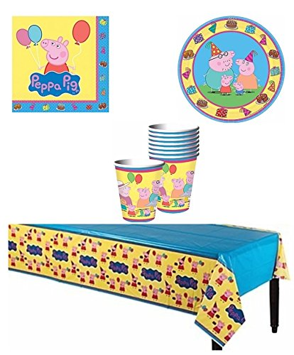 Peppa Pig Party Supply Pack for 8 Guests