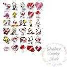 30 Valentine Nail Art Decals Nail Art Decals Decal