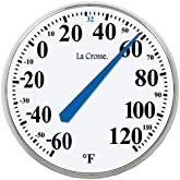 LA CROSSE TECHNOLOGY 104-114 13.5inches Round Thermometer