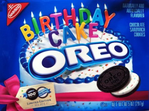 Oreo 100th Birthday Cake Cookies (Pack of 2) Food, Beverages Tobacco ...
