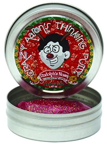 [Crazy Aaron's Thinking Putty Mini Rudolph's Nose] (Nose Putty)