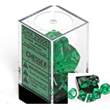 Chessex Polyhedral 7-Die Translucent Dice Set - Green