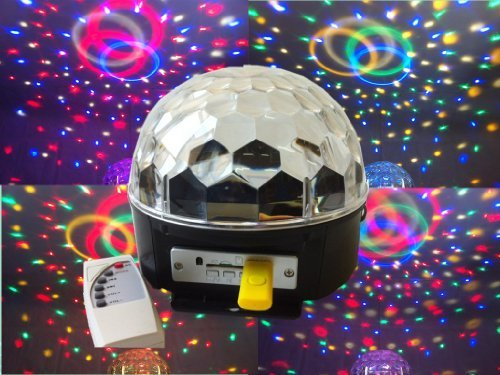 Supertech With Remote Control And Usb Driver 6 Color Changing Rgb Crystal Magic Rotating Ball Effect Led Stage Lights For Ktv Xmas Party Wedding Show Club Pub Disco Dj