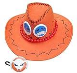 高品質コスプレ道具 ONE PIECE・ポートガス・D・エース・火拳のエース・帽子 オレンジ コスチューム