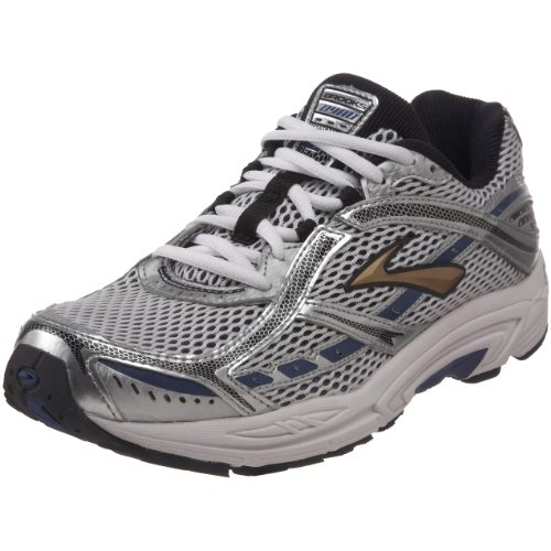 Brooks Men's Dyad 6 Running Shoe,Silver/Black/Mazarine Blue/Gold,9 2E US