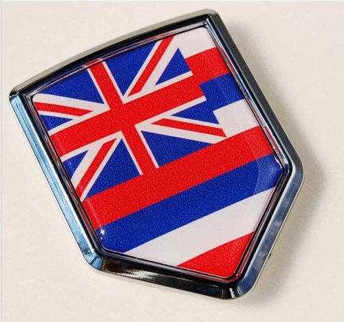 Hawaii Flag Hawaiian Car Auto Chrome Emblem Decal Sticker (Productos Car Wash compare prices)