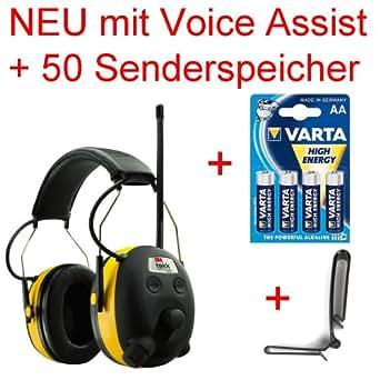 Original 24db PELTOR Digital Radio Gehörschutz Kopfhörer mit MP3 Anschluss