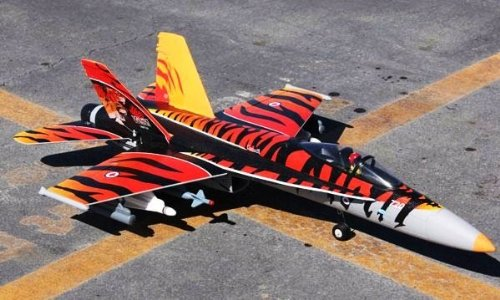 F/A - 18E 64MM BRUSHLESS TIGER PNP VERSION EDF RC JET
