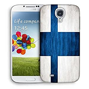 Snoogg Blue Cross Designer Protective Phone Back Case Cover For Samsung Galaxy S4
