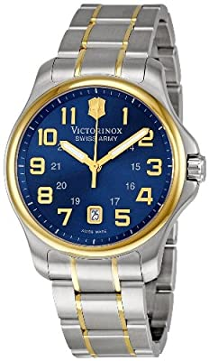 Victorinox Swiss Army Men's 241363 Officer's Gent Blue Stainless Steel Watch