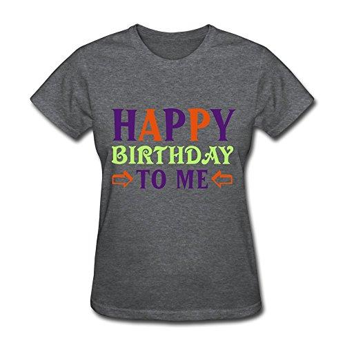 Wxmy Women'S 100% Cotton Happy Birthday Me T-Shirt Xl