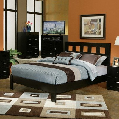 California King Platform Bed in Dark Espresso