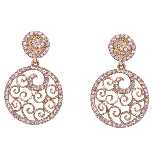 Aditri Aditri FILIGREE Concept Dangle Earrings (White-Colour) (7060) (Multicolor)