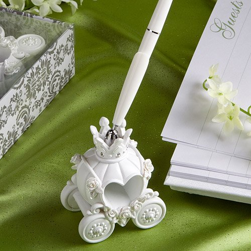 Fairy tale coach design wedding pen set (Set of 18)