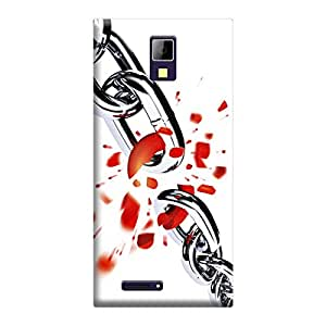 Skintice Designer Back Cover with direct 3D sublimation printing for Micromax Canvas Xpress A99