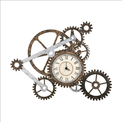 Southern Enterprises Industrial Wall Art with Clock