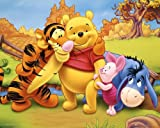 Laminated Children's Mini Poster featuring Winnie the Pooh and His Friends in The Hundred Acre Woods 50x40cm