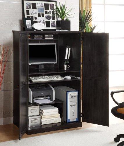 Buy Low Price Comfortable Computer Armoire in Walnut Ebony – Innovex – CA750P36 (B004GITK3U)