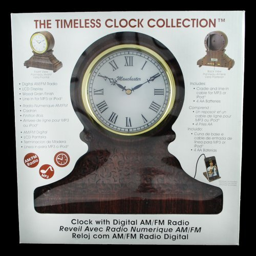 Vintage Style Clock With Am/Fm Digital Radio & Mp3 Line-In Rc-500