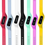 WoCase OneBand Fitbit One Accessory Wristband Bracelet Collection (2015 Latest Version, Bundled or Single Band) and Rainbow Pack Fasteners (SOLD SEPARATELY) for Fitbit ONE Activity and Sleep Tracker (Turn Your Fitbit ONE into Wearable FLEX/FORCE/CHARGE, Gift Ready Retail Package)