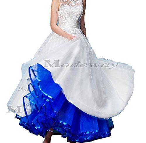 Modeway women 39 s ankle length wedding dress under skirt xs for Underwear under wedding dress