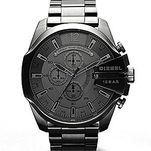 Diesel Herren-Armbanduhr XL Mega Chief Chronograph Quarz Edelstahl beschichtet DZ4282